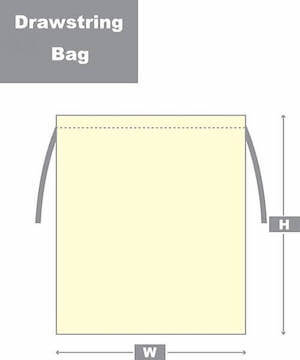 drawstring bag style diagram