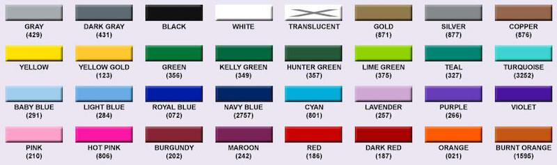 popular colors of silicone wristbands