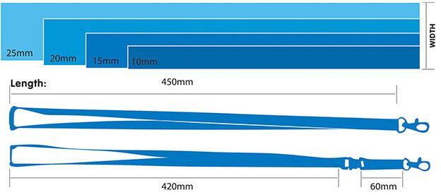 sizes of lanyards