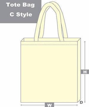 tote bag c style diagram